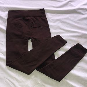 Pants - Insulated Brown Leggings